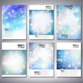Abstract winter design background with snowflakes. Brochure, flyer or report for business, templates