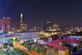 Ho Chi Minh City / Vietnam - Dec 13 2014: Night View Of Ho Chi Minh Cityscape, Vietnam