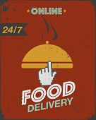 Courier food delivery poster