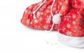 bag and cap of Santa