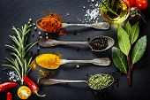 foto of slating  - Herbs and spices selection  - JPG