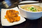 Noodle Soup With Fried Chicken