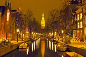 Zuiderkerk in Amsterdam the Netherlands at night