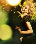 picture of hair motion  - Dancing woman - JPG