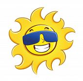 Happy Sun Wearing Glasses