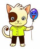 Cute Kitten With Balloon