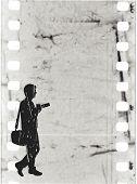 Photographer's silhouette