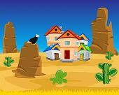 stock photo of west village  - Vector illustration of the village on dick west - JPG