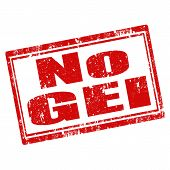 picture of genetic engineering  - Grunge rubber stamp with text No GEI  - JPG