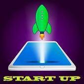 start up rocket icon. Project development
