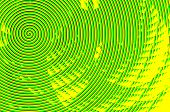 Abstract Green And Yellow Spiral