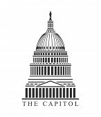 picture of democracy  - An illustration of Capitol building concept - JPG