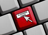 Computer keyboard Transparent customer