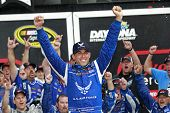 Daytona Beach, FL - Jul 06, 2014:  Aric Almirola (43) wins the