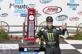 Newton, IA - May 18, 2014:  Sam Hornish Jr (54) wins the Get To Know Newton 250 at Iowa Speedway in Newton, IA.