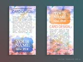 Template banners or cards with Vector watercolor paint abstract
