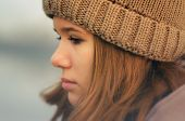 Portrait Of The Beautiful Sad Girl