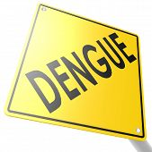 Road Sign With Dengue