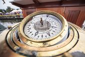 Big Compass On A Ship