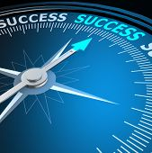 Success Word On Compass
