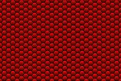 Honeycomb structure red