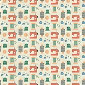 Needlework seamless pattern