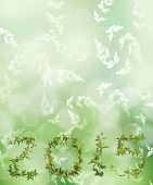 image of creeper  - 2015 word of creeper flower on green bokeh background - JPG