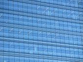 Background Office Building With Blue Crystals