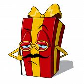 Present box character.