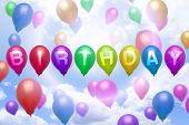 Birthday Balloon Colorful Balloons