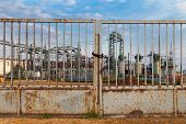 stock photo of substation  - Building on a high - JPG