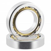 picture of friction  - Isolated realistic bearings on a white background with light scratches - JPG