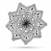 picture of mehndi  - Henna Paisley Mehndi Doodles Abstract Floral Vector Illustration Design Element - JPG