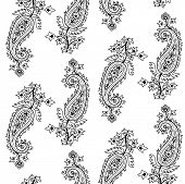 image of teardrop  - Seamless pattern based on traditional Asian elements Paisley - JPG