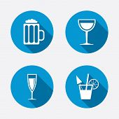 picture of sparkling wine  - Alcoholic drinks icons - JPG