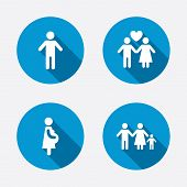 foto of child-birth  - Family lifetime icons - JPG