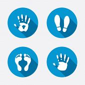 pic of flat-foot  - Hand and foot print icons - JPG