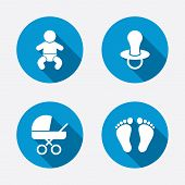 picture of footprint  - Baby infants icons - JPG