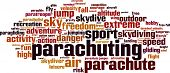 stock photo of parachute  - Parachuting word cloud concept - JPG