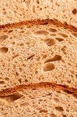 foto of nutrients  - fresh rye bread nutrient dieting healthy food - JPG