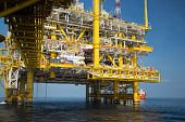 foto of offshore  - Offshore oil and gas production and exploration business - JPG