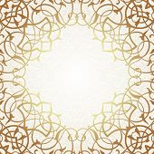 pic of brocade  - Vector ornate seamless border in Eastern style - JPG