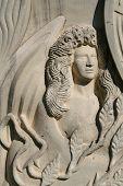 Conjunto de Angel en piedra