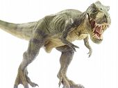 stock photo of tyrannosaurus  - Isolated dinosaur and monster model in white background - JPG