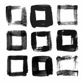 pic of squares  - Black watercolor square frames - JPG