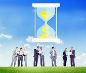 foto of sand dollar  - Time Sand Glass Hour Glass Finance Saving Concept - JPG