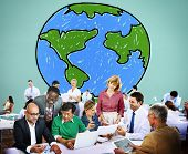 picture of globalization  - Global Networking Communication Economy Worldwide Concept - JPG