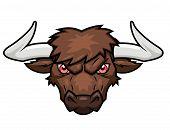 pic of bull head  - Illustration of the bull - JPG