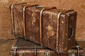stock photo of old suitcase  - Close - JPG