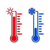 pic of cold-weather  - The thermometer icon - JPG